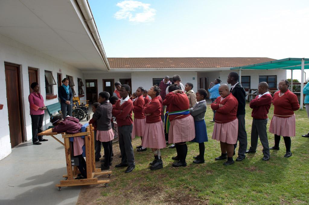 Sanne aan het werk op Ithemba