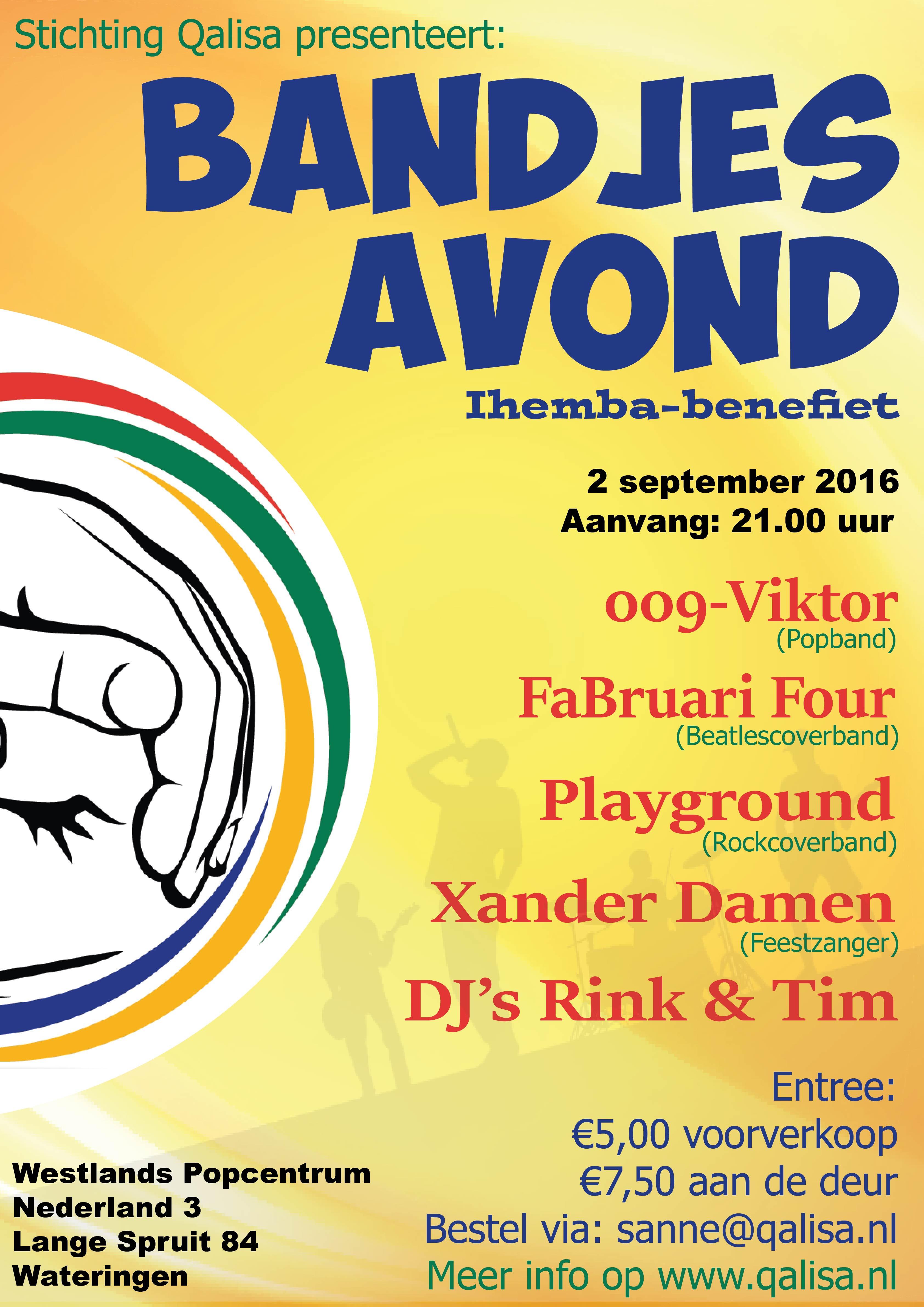 Bandjesavond voor Ithemba